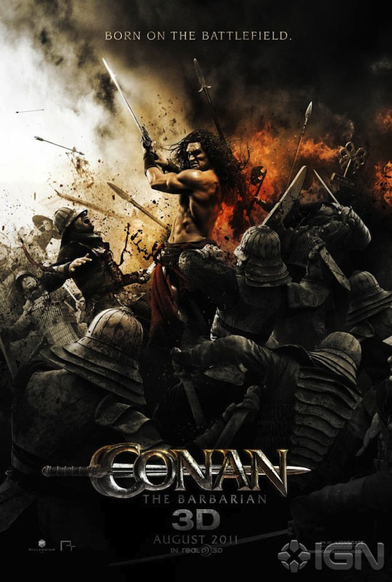 conan the barbarian movie poster. This poster just reeks of