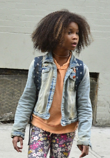 Jamie+Foxx+Quvenzhane+Wallis+On+ Set+Annie+4