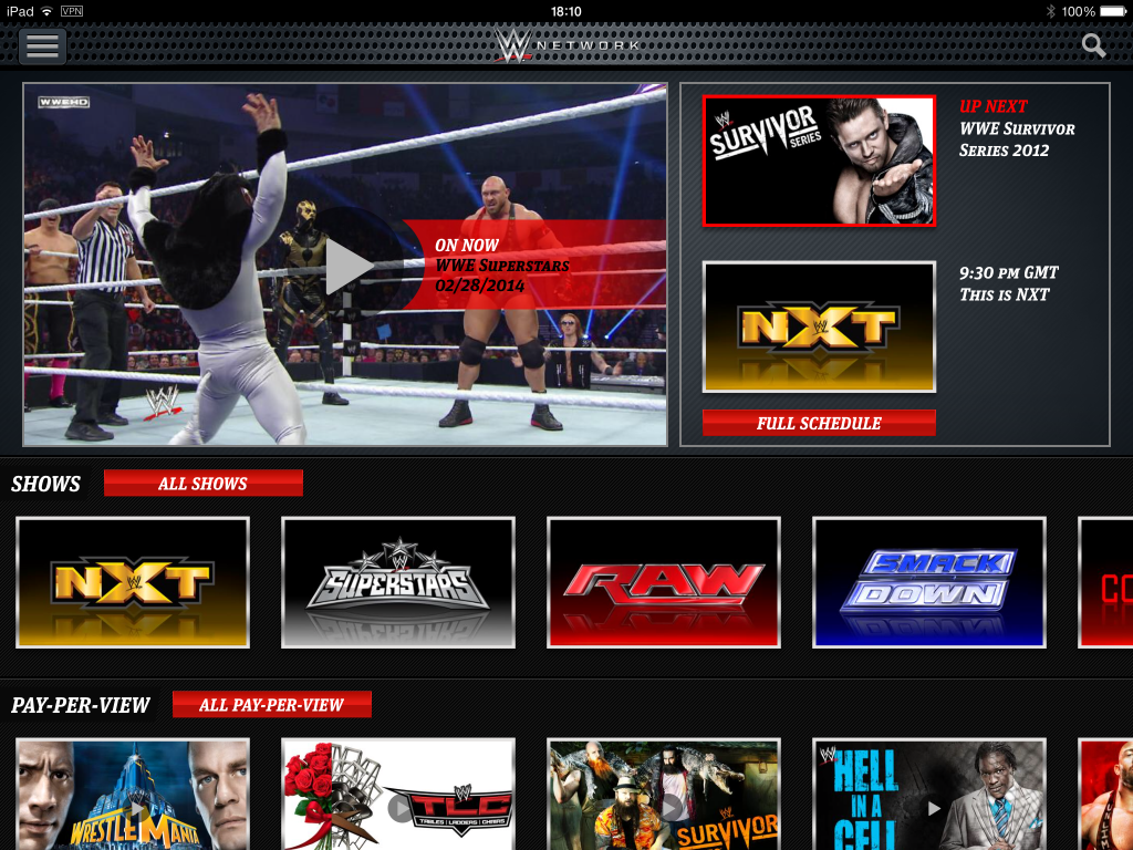 wwe-network-home-screen
