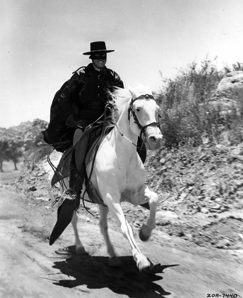 09_1957 -Zorro- TV series (white horse)