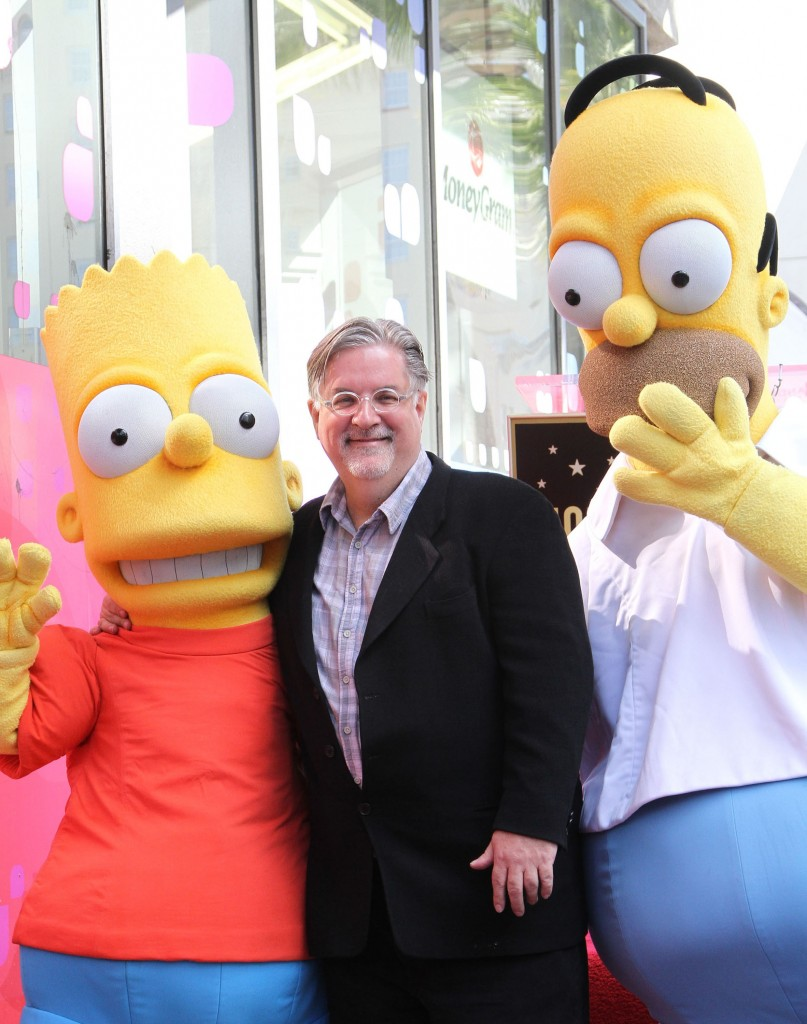 matt groening hollywood star 140212