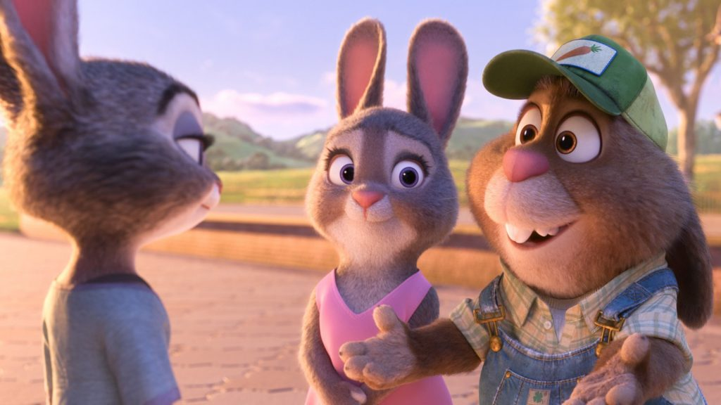 ZOOTOPIA – Pictured (L-R): Judy, Bonnie, and Stu Hopps. ©2016 Disney. All Rights Reserved.