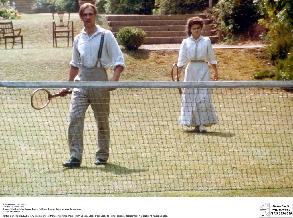 A Room with a View (1985) Directed by James Ivory Shown from left: Helena Bonham Carter, Julian Sands
