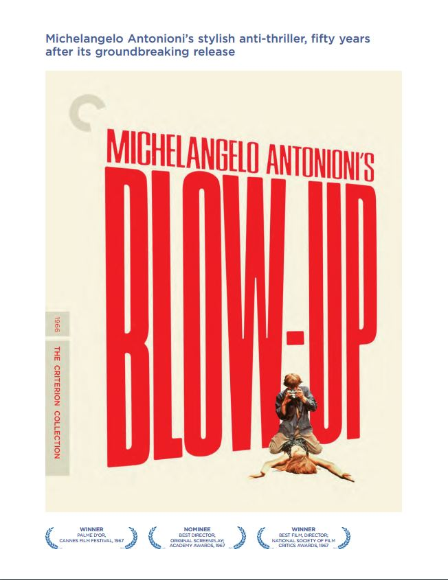 blow up antonioni essay In a story, things are often not quite what they seem to be akira kurosawa's rashomon and michaelangelo antonioni's blow-up are good examples of stories that are not what they first appear to be through the medium of film, these stories unfold in different and exiting ways that give us interesting.