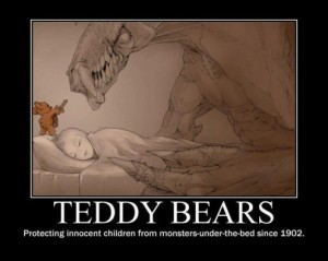 Teddy-Bears-Protecting-Innocent-Children-From-Monsters-Under-The-Bed-Since-1902-496x396