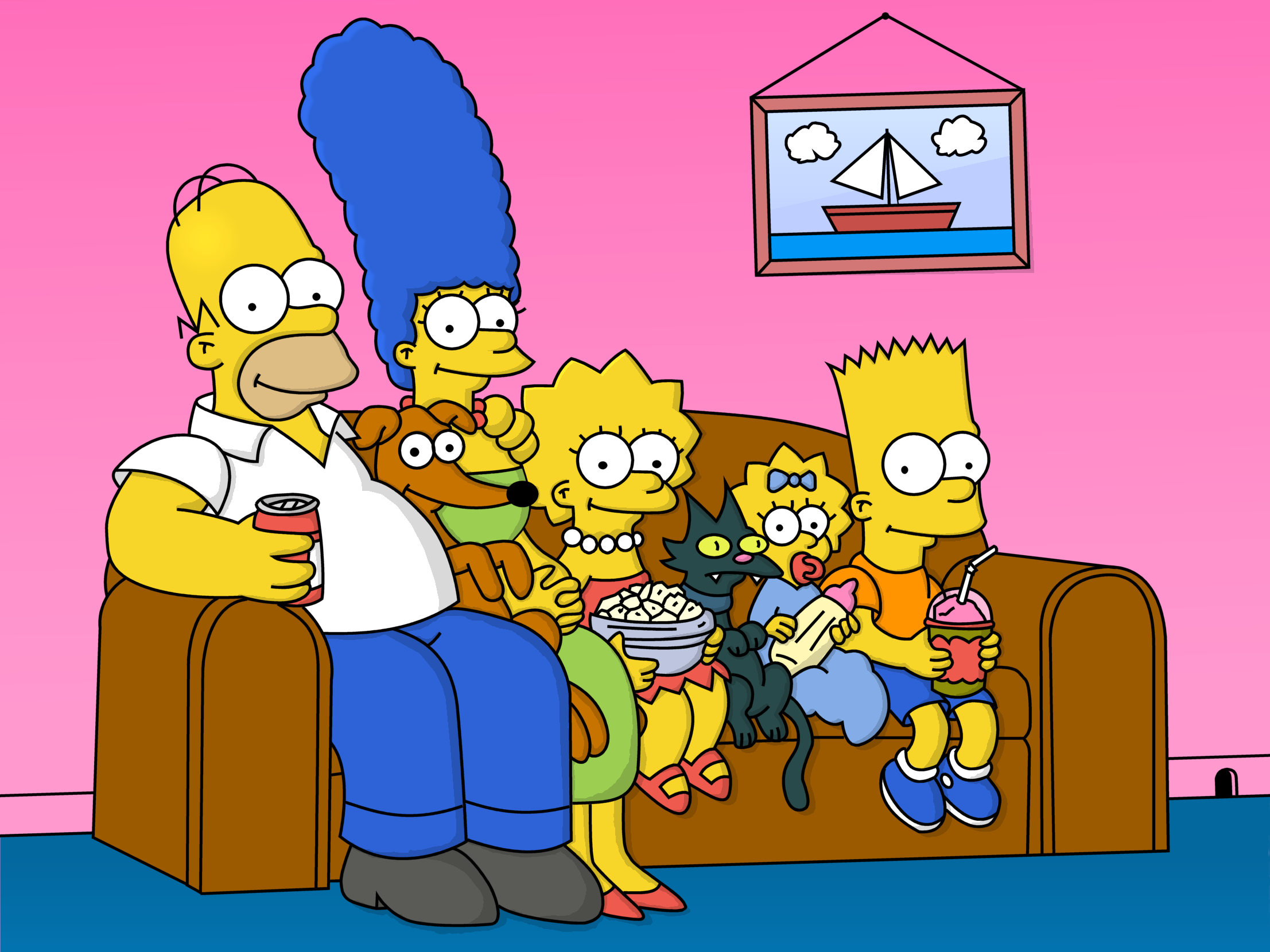simpsons-family-couch