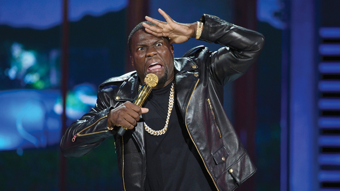 "8P05_D002_00556 In Universal Pictures' Kevin Hart: What Now?, comedic rockstar KEVIN HART follows up his 20 13 hit standup concert movie Let Me Explain, which grossed $32 million domestically and became the thirdhighest live standup comedy movie of all time. Hart takes center stage in this groundbreaking, recordsetting, soldout performance of ""What Now?""—filmed outdoors in front of 50,000 people at Philadelphia's Lincoln Financial Field—marking the first time a comedian has ever performed to an atcapacity football stadium. Credit: Frank Masi"