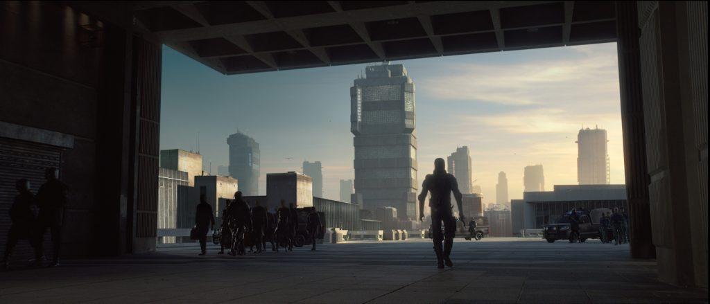 Karl Urban stars as 'Dredd' in DREDD.