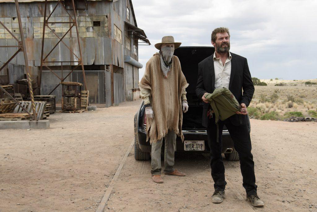 DF-03259 - Caliban (Stephen Merchant) and Logan (Hugh Jackman) in LOGAN. Photo Credit: Ben Rothstein.
